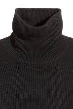 Cashmere-mix polo-neck jumper - Black - Ladies | H&M GB 3