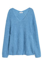 Mohair-blend jumper - Light blue - Ladies | H&M GB 2