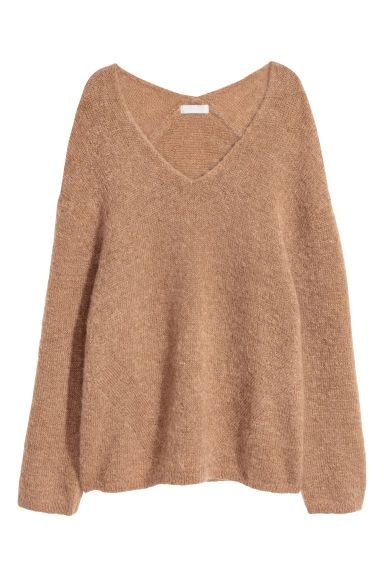 Mohair-blend jumper - Camel - Ladies | H&M IE