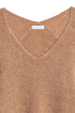 Mohair-blend jumper - Camel - Ladies | H&M 3