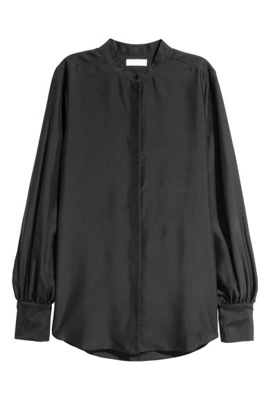 Silk blouse - Black - Ladies | H&M CN