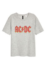 Printed T-shirt - Grey AC/DC - Ladies | H&M CN 2