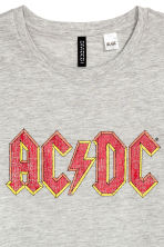 Printed T-shirt - Grey AC/DC - Ladies | H&M CN 3