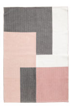 Tapis color block en coton - Rose clair/gris - Home All | H&M FR 1