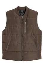 Padded Vest - Khaki green - Men | H&M CA 2