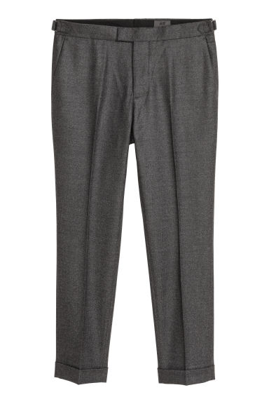 Wool suit trousers - Dark grey marl -  | H&M CN
