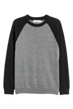 Fine-knit jumper - Dark grey/Black - Men | H&M GB 2