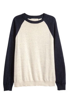 Fine-knit cotton jumper
