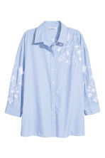 Embroidered shirt - Blue/White/Striped - Ladies | H&M 2
