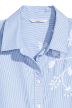 Embroidered shirt - Blue/White/Striped - Ladies | H&M 4