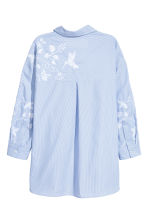Embroidered shirt - Blue/White/Striped - Ladies | H&M 3