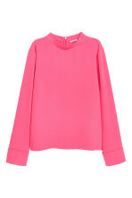 Blouse with a stand-up collar - Pink - Ladies | H&M 2