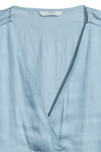 Satin blouse - Light blue - Ladies | H&M 3