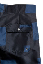 Knee-length swim shorts - Black/Dark blue - Men | H&M 3