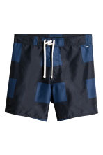 Knee-length swim shorts - Black/Dark blue - Men | H&M 2
