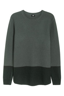 Textured wool-blend jumper