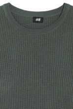 Textured wool-blend jumper - Green - Men | H&M 3