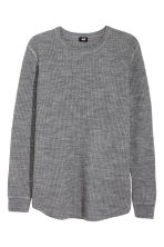 Textured wool-blend jumper - Grey marl - Men | H&M GB 2