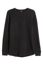 Textured wool-blend jumper - Black - Men | H&M GB 2