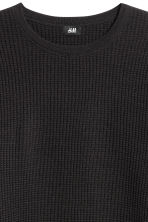 Textured wool-blend jumper - Black - Men | H&M GB 3
