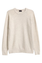 Premium cotton jumper - Light beige - Men | H&M CN 2