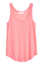 Jersey vest top - Coral pink -  | H&M 2
