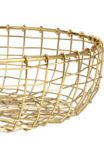 Metal wire bread basket - Gold-coloured - Home All | H&M IE 2