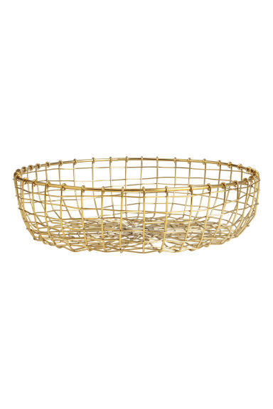 Metal wire bread basket - Gold-coloured - Home All | H&M IE 1