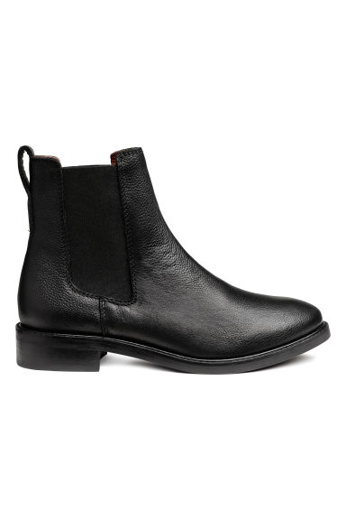 Leather Chelsea Boots - Black - Ladies | H&M CA