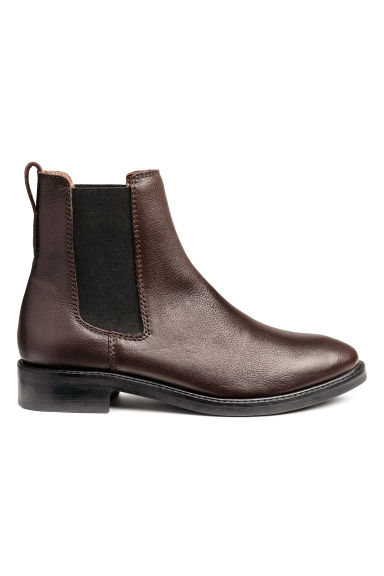 Leather Chelsea boots - Brown - Ladies | H&M 1