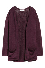 Fine-knit cardigan - Burgundy - Kids | H&M 2