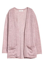 Fine-knit cardigan - Old rose -  | H&M 2