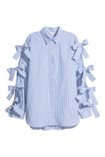 Shirt with ties - Blue/White/Striped - Ladies | H&M CN 2