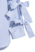 Shirt with ties - Blue/White/Striped - Ladies | H&M CN 3