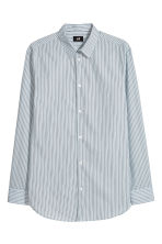 Cotton shirt Relaxed fit - Light blue/Striped - Men | H&M CN 2