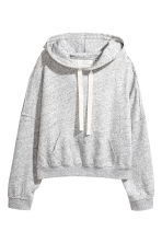 Wide hooded top - Light grey marl - Ladies | H&M 2