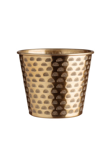 Small metal plant pot - Gold-coloured - Home All | H&M IE 1