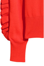Frilled knitted jumper - Bright red - Ladies | H&M CN 4