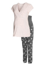 MAMA Nursing pyjamas - Powder pink/Stars - Ladies | H&M 2