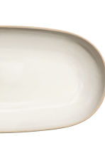 Stoneware serving dish - Natural white - Home All | H&M CN 3