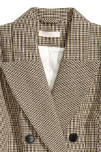 Double-breasted jacket - Beige/Dogtooth - Ladies | H&M IE 3