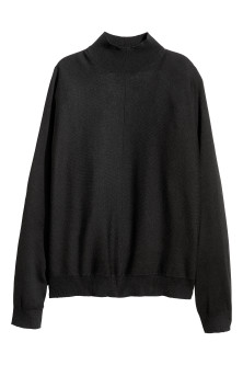 Fine-knit turtleneck jumper