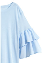 Jersey flounce-sleeved top - Light blue - Ladies | H&M 3