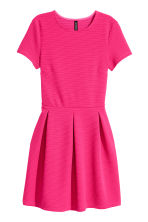 Texture-patterned Dress - Cerise - Ladies | H&M CA 2