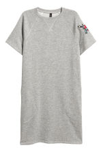 Sweatshirt dress - Light grey marl - Ladies | H&M 1