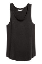 Top in jersey a costine - Nero - DONNA | H&M CH 2