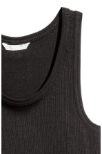 Ribbed jersey top - Black - Ladies | H&M 3