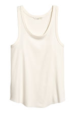 Ribbed Jersey Tank Top - Natural white - Ladies | H&M CA 2