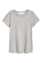 Cashmere-blend T-shirt - Grey marl - Ladies | H&M 2