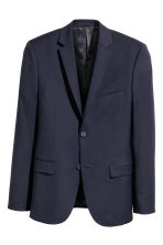 Blazer in lana Regular fit - Blu scuro - UOMO | H&M IT 2